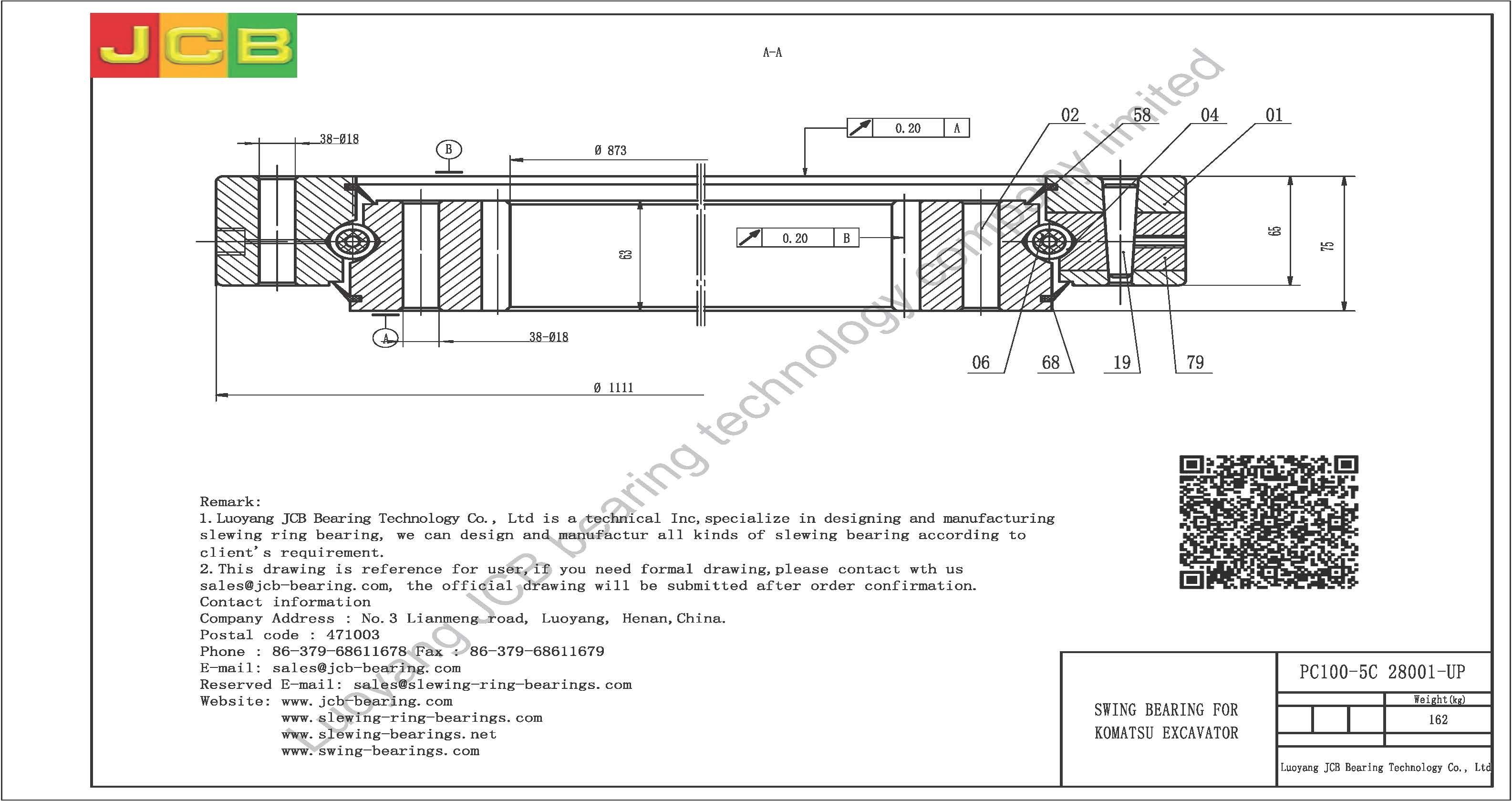 Swing Bearing For Excavator Pc100 5c28001 Up Schematic Komatsu 5c 28001